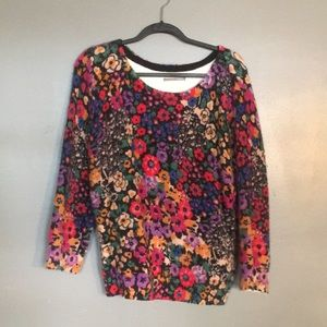 Floral Anthropologie Sweater